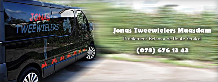 Jonas Tweewielers, problemen? bel de routeservice!